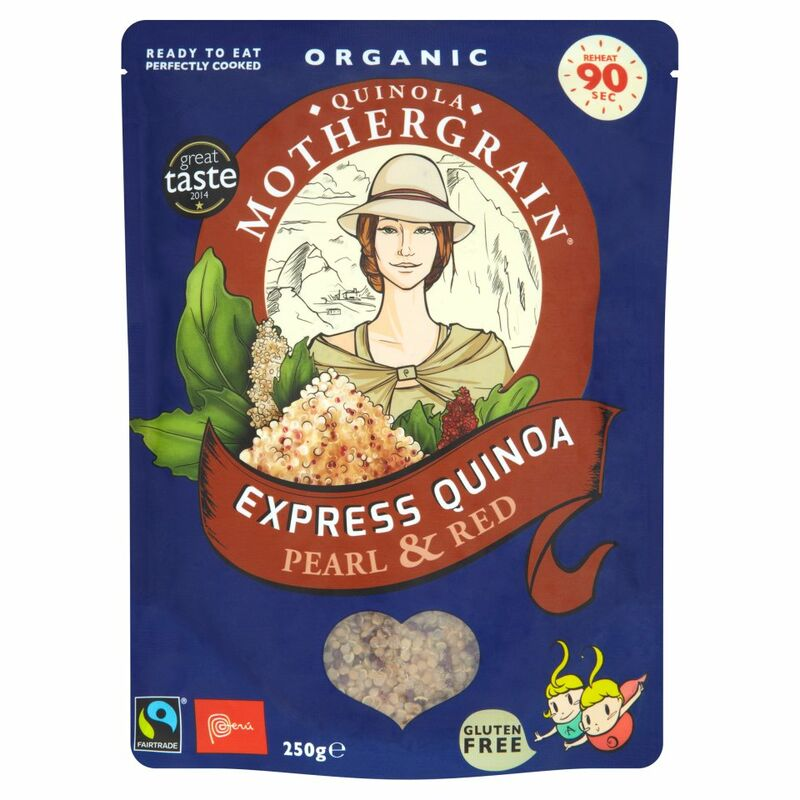 Quinola Mothergrain Fairtrade Organic Express Quinoa Pearl & Red 250g