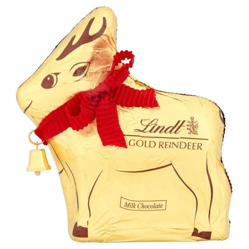 Lindt Gold Reindeer Milk Chocolate 100g