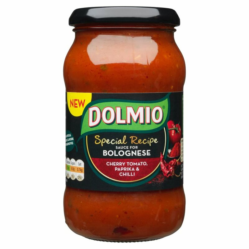DOLMIO® Special Recipe Sauce for Bolognese Cherry Tomato, Paprika & Chilli 400g