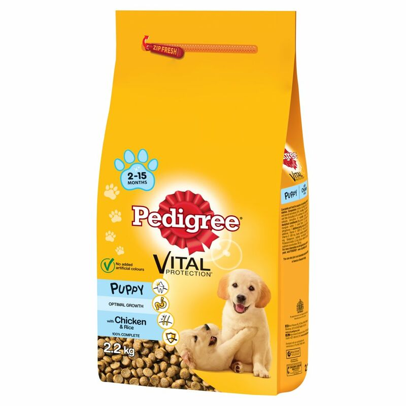 PEDIGREE Puppy Medium Dog Complete Dry with Chicken and Rice 2.2kg