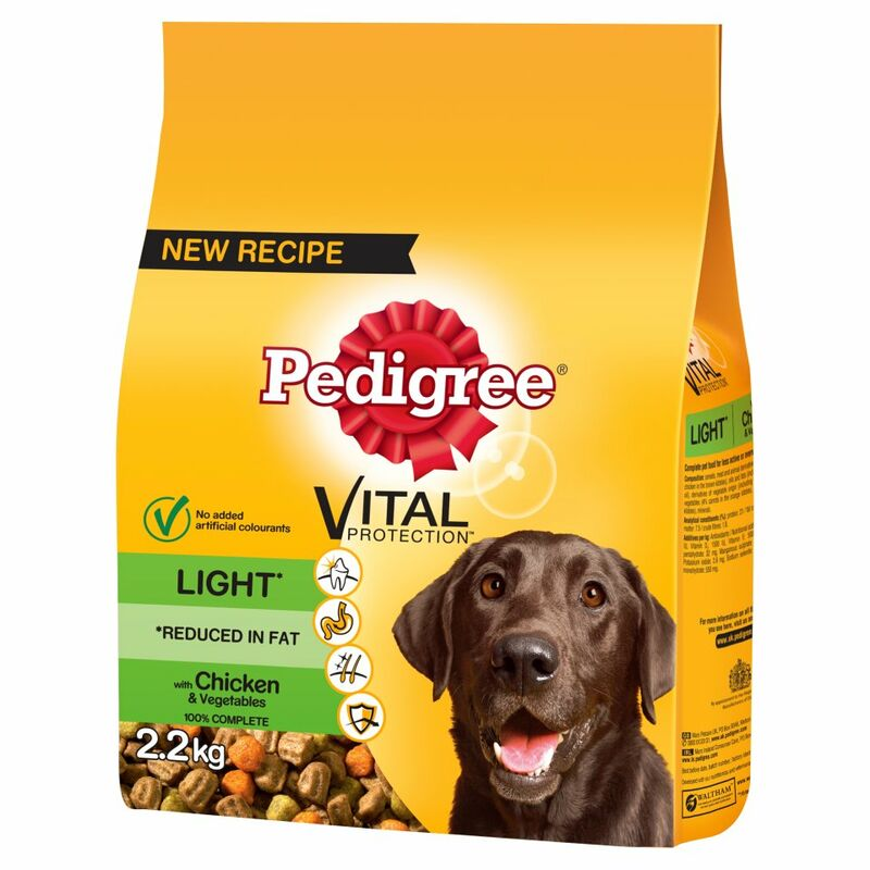 PEDIGREE® Light Dog Complete Dry with Chicken and Vegetables 2.2kg
