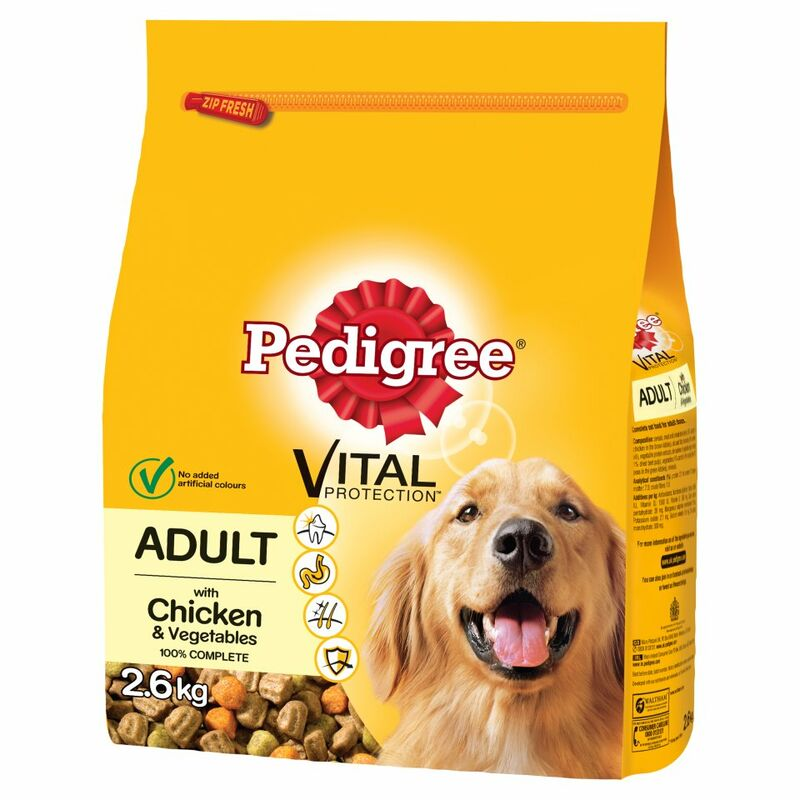 PEDIGREE Dog Complete Dry with Chicken and Vegetables 2.6kg