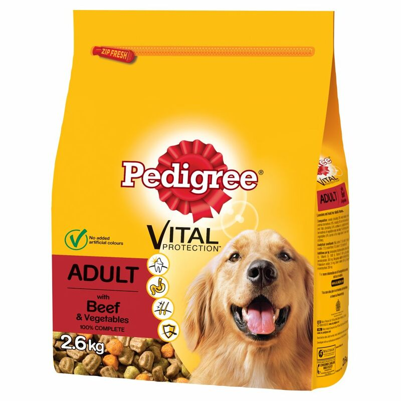 PEDIGREE Dog Complete Dry with Beef and Vegetable 2.6kg