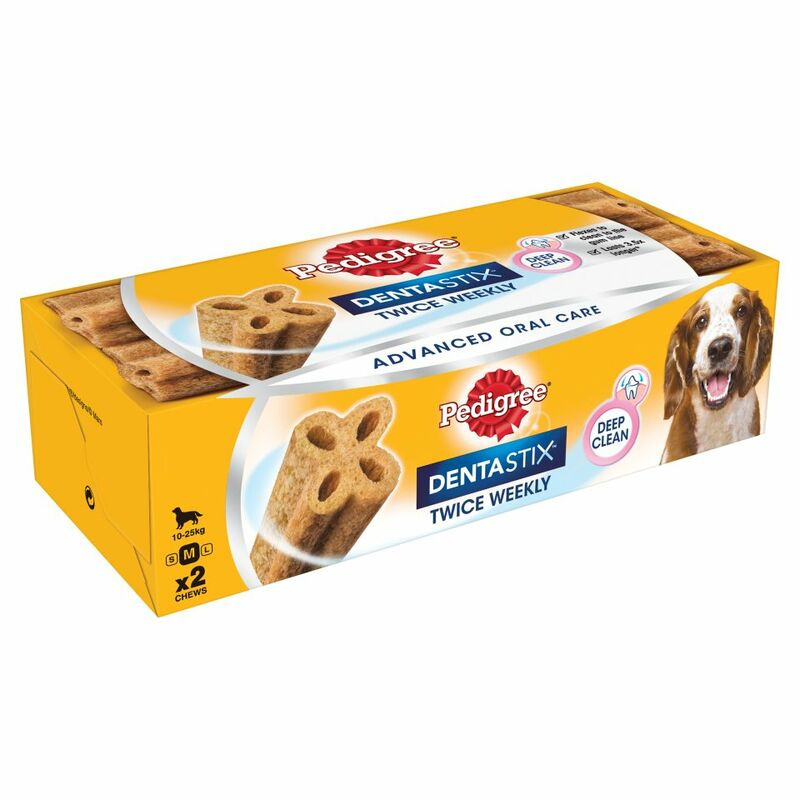 PEDIGREE Dentastix Twice Weekly Medium Dog Dental Chew 2 Sticks
