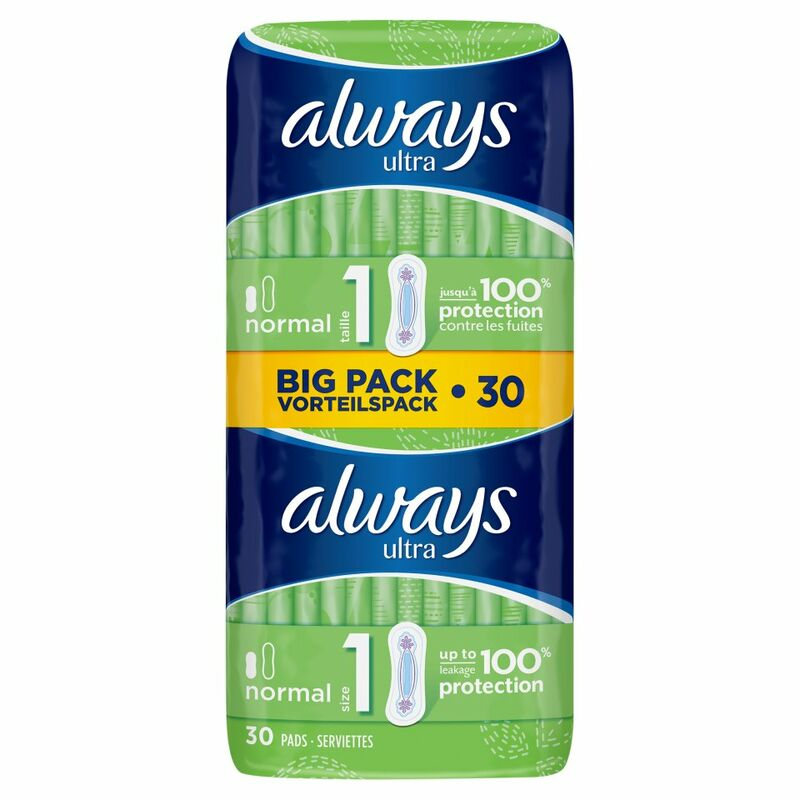 Always Ultra Normal (Size 1) Sanitary Towels 30 Pads