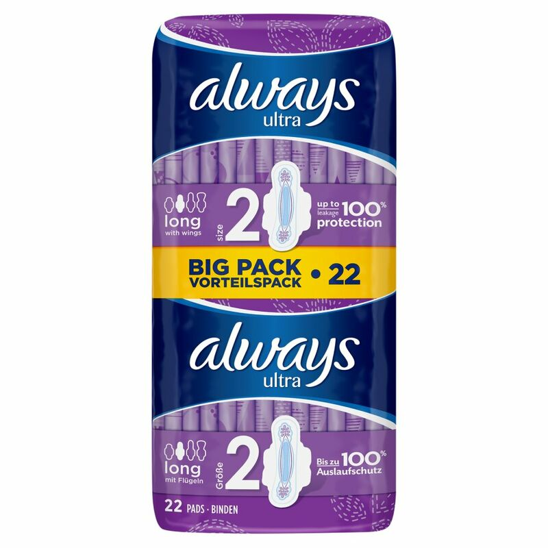 Always Ultra Long (Size 2) Sanitary Towels Wings 22 Pads
