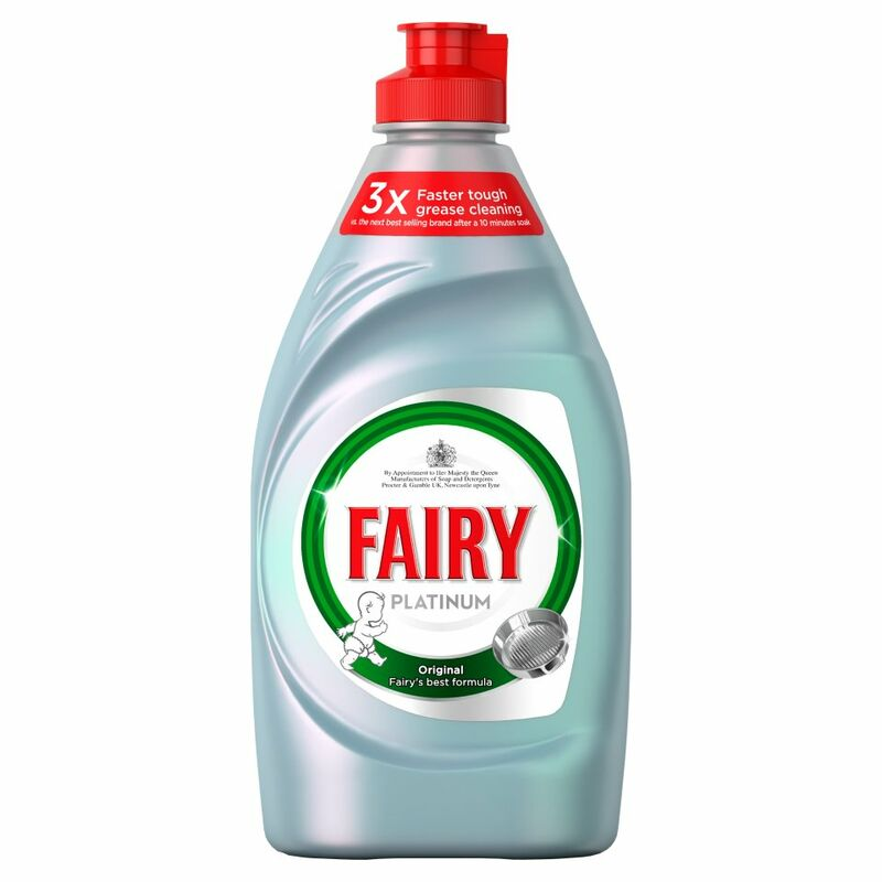 Fairy Platinum Washing Up Liquid Original 383ml