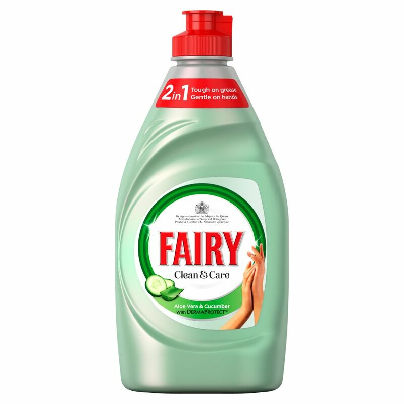 Fairy Clean & Care Washing Up Liquid Aloe Vera & Cucumber 383ML