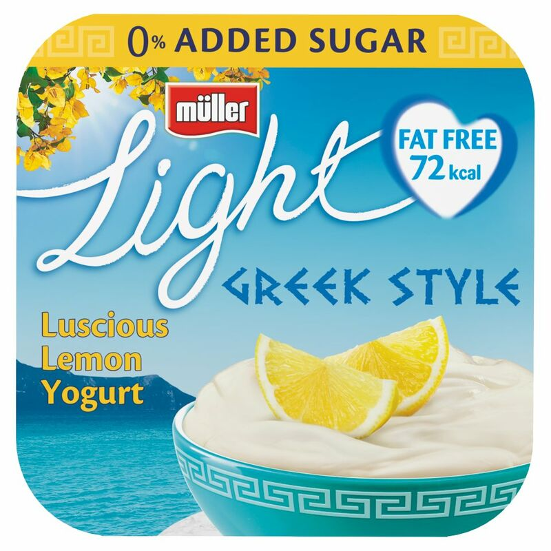 Muller Light Greek Style Lemon Yogurt 4 x 120g