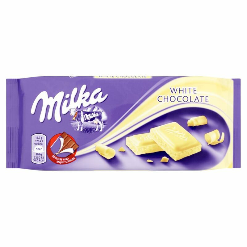 Milka White Chocolate Bar 100g