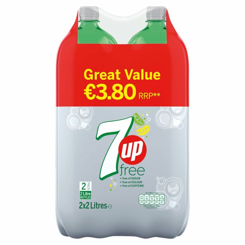 7UP Lemon and Lime Free 2 x 2 Litres