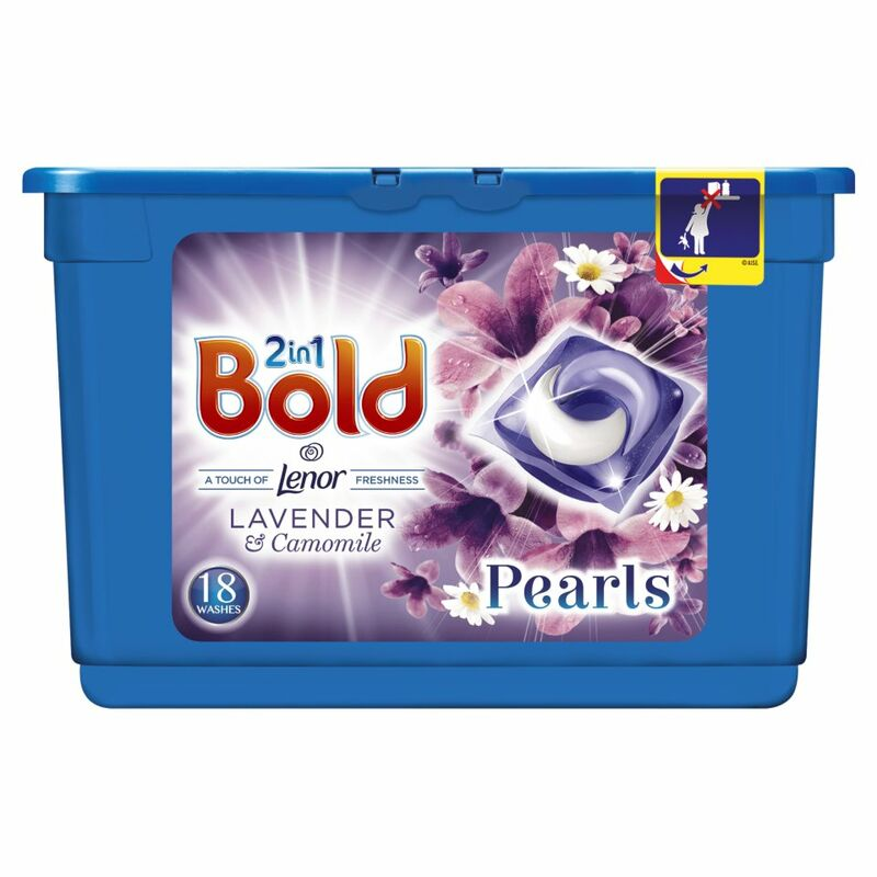 Bold 2in1 Washing Capsules Lavender & Camomile 18 Washes