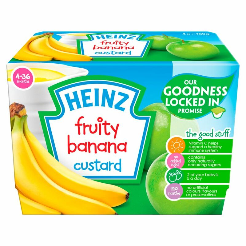 Heinz 4-36 Months Fruity Banana Custard 4 x 100g