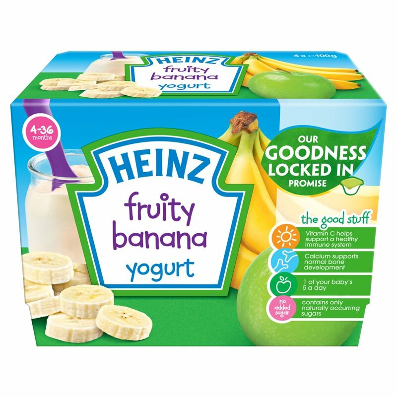 Heinz 4-36 Months Fruity Banana Yogurt 4 x 100g