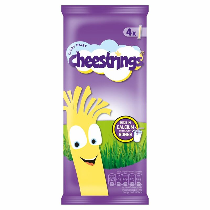 Kerry Dairy 4 Cheestrings 80g