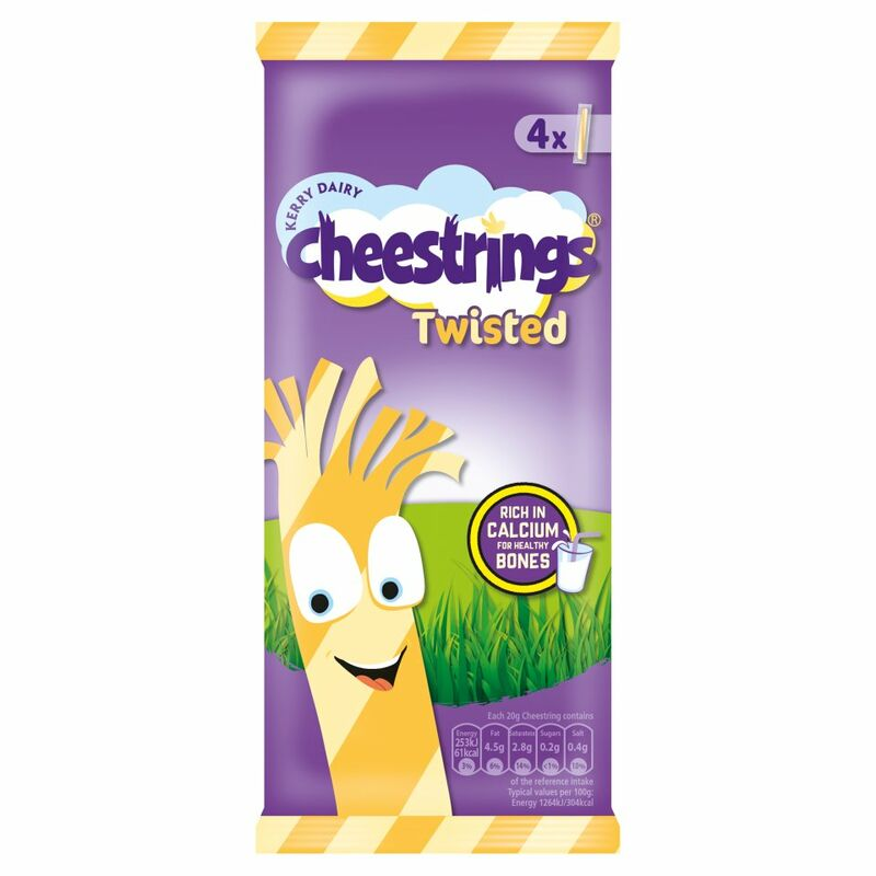 Kerry Dairy 4 Cheestrings Twisted 80g
