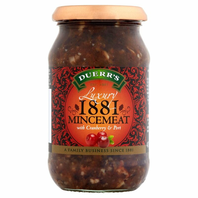 Duerr's Luxury Mincemeat with Cranberry & Port 411g