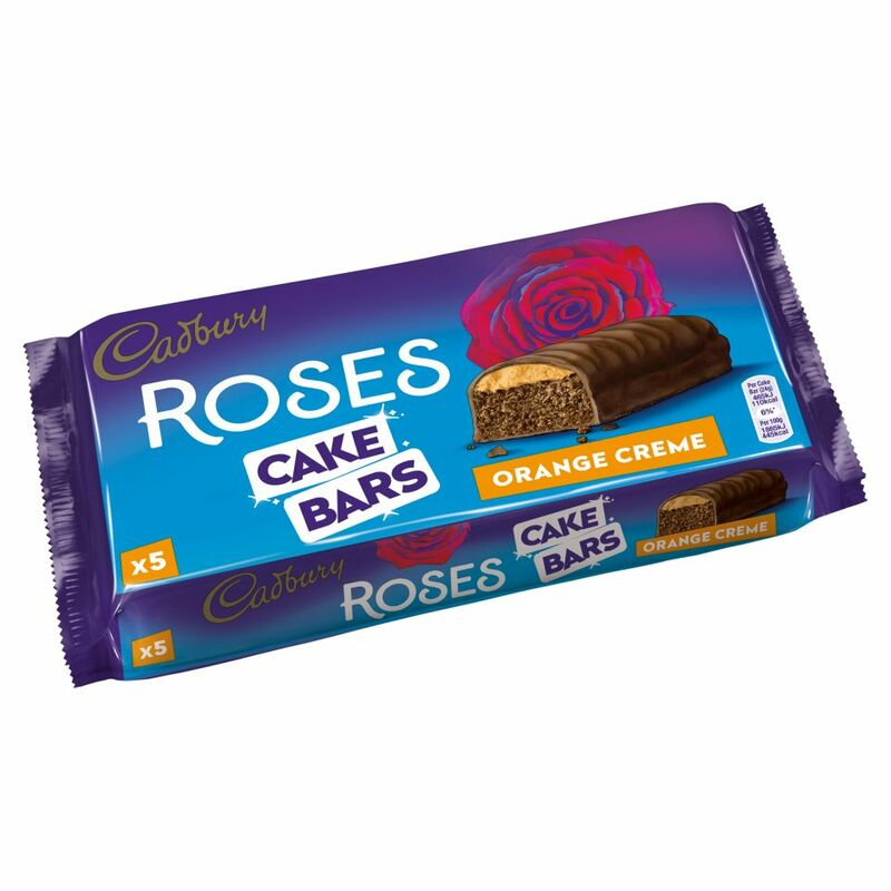 Cadbury 5 Roses Cake Bars Orange Creme