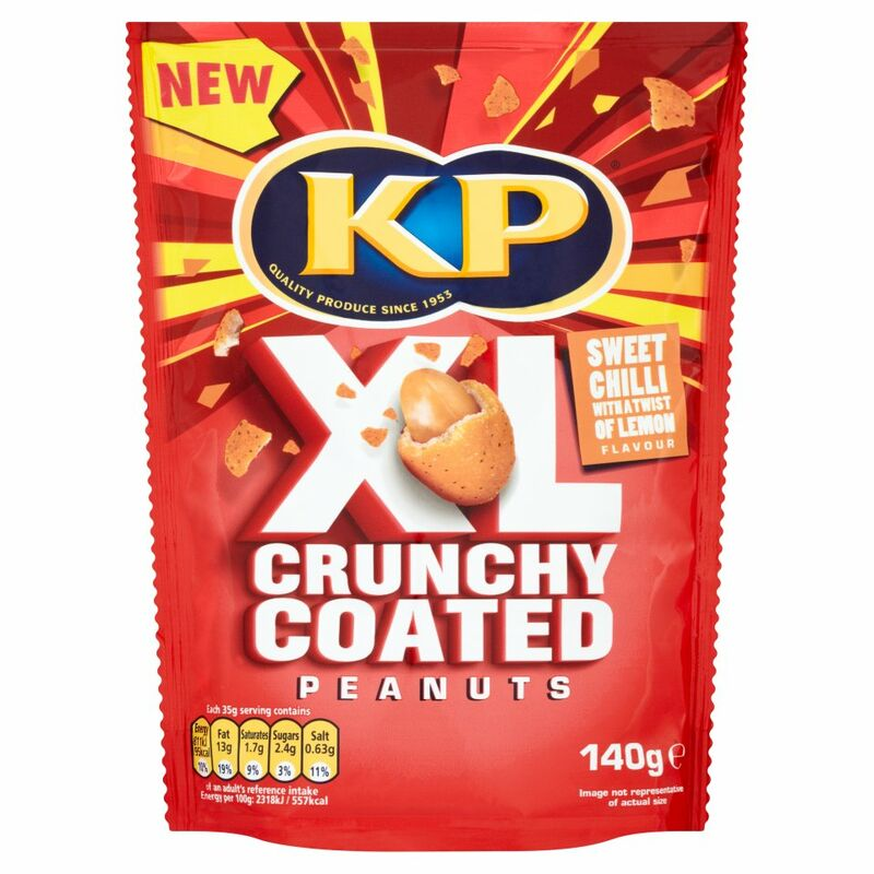 KP XL Crunchy Coated Peanuts Sweet Chilli with a Twist of Lemon Flavour 140g