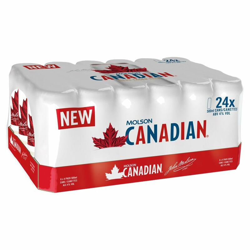 Molson Canadian Lager 24 x 500ml