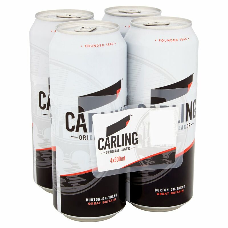 Carling Lager 4 x 500ml