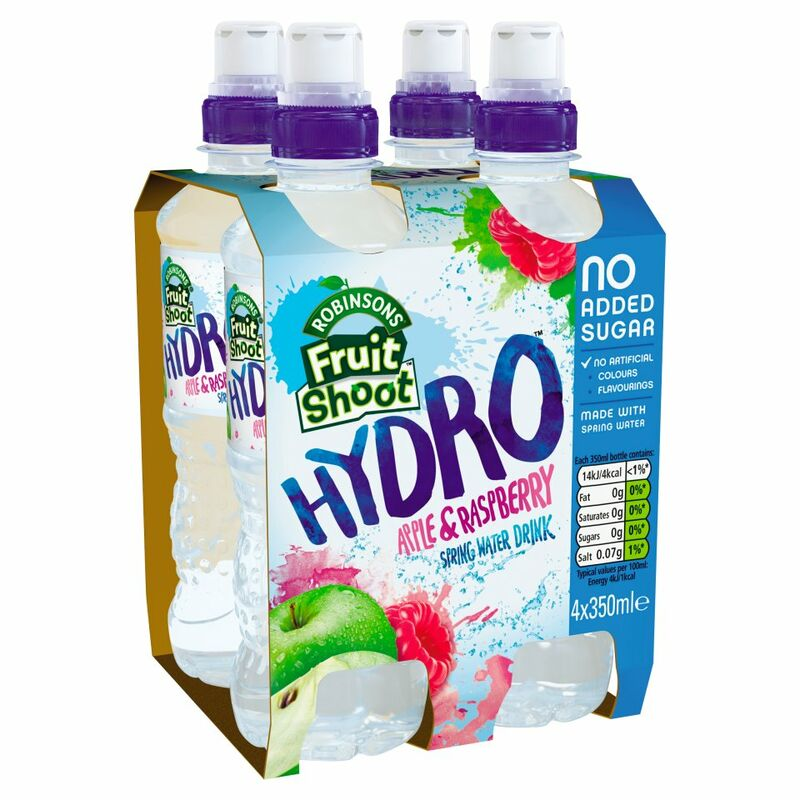 Robinsons Fruit Shoot Hydro Apple & Raspberry Spring Water Drink 4 x 350ml