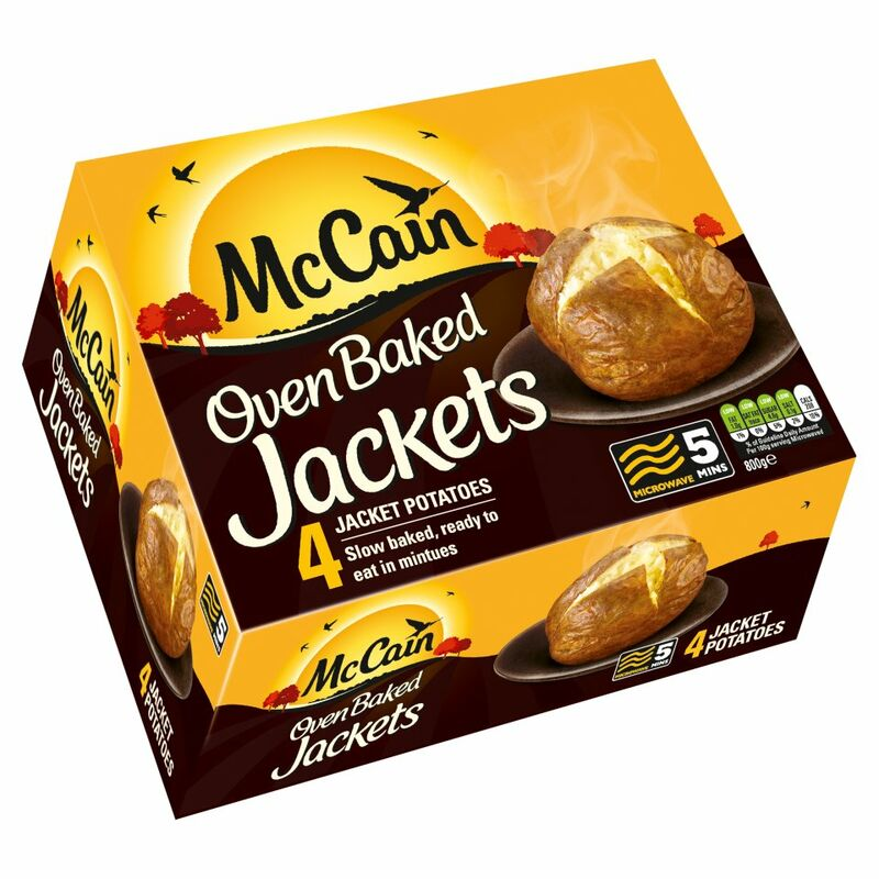 McCain Oven Baked Jackets 4 Jacket Potatoes 800g