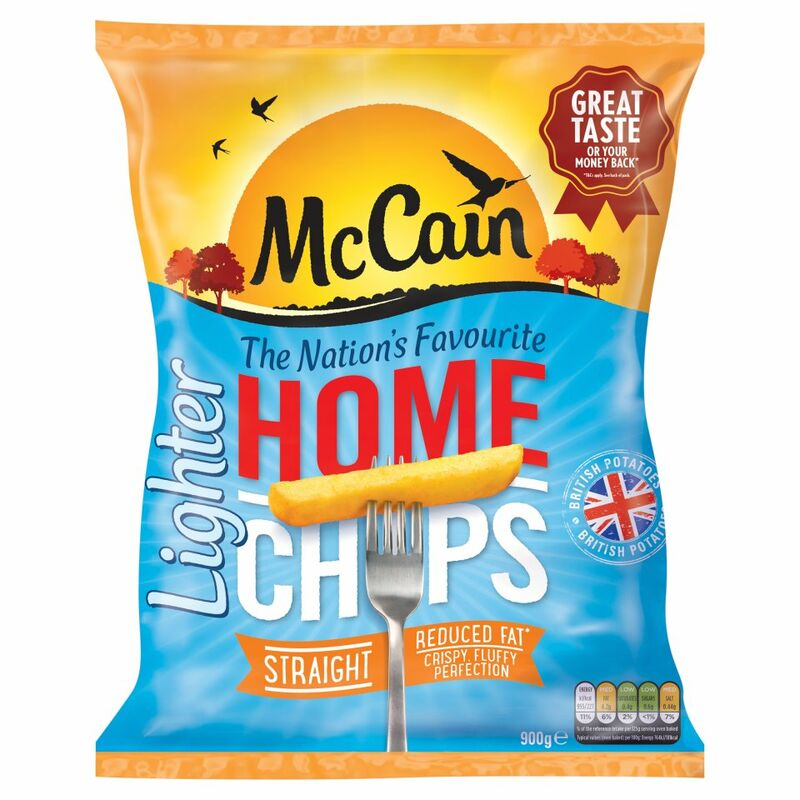 McCain Lighter Home Chips Straight 900g
