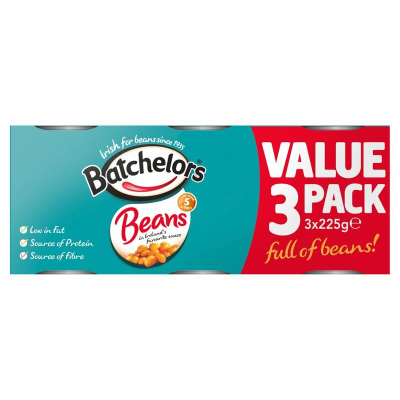 Batchelors Beans in Ireland's Favourite Sauce 3 x 225g