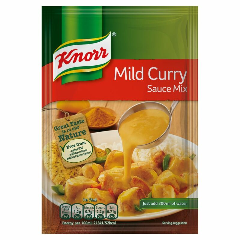 Knorr Mild Curry Sauce Mix 38g