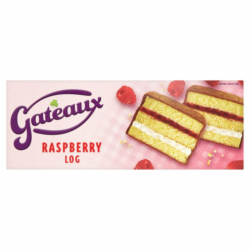Gateaux Raspberry Log 215g