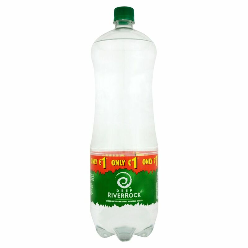 Deep RiverRock Carbonated Natural Mineral Water 2 Litre