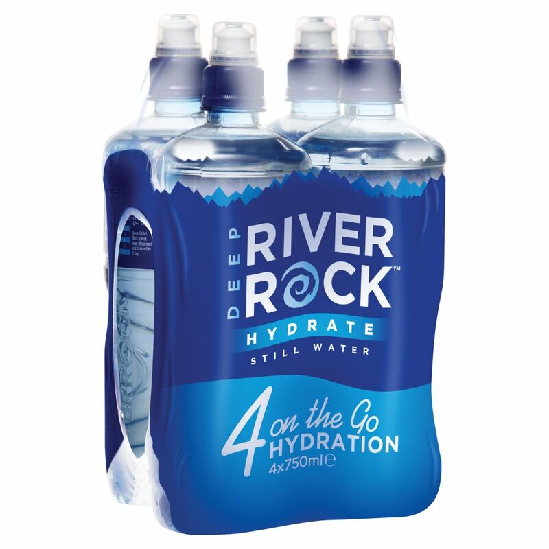 Deep RiverRock Hydrate Still Water 4 x 750ml