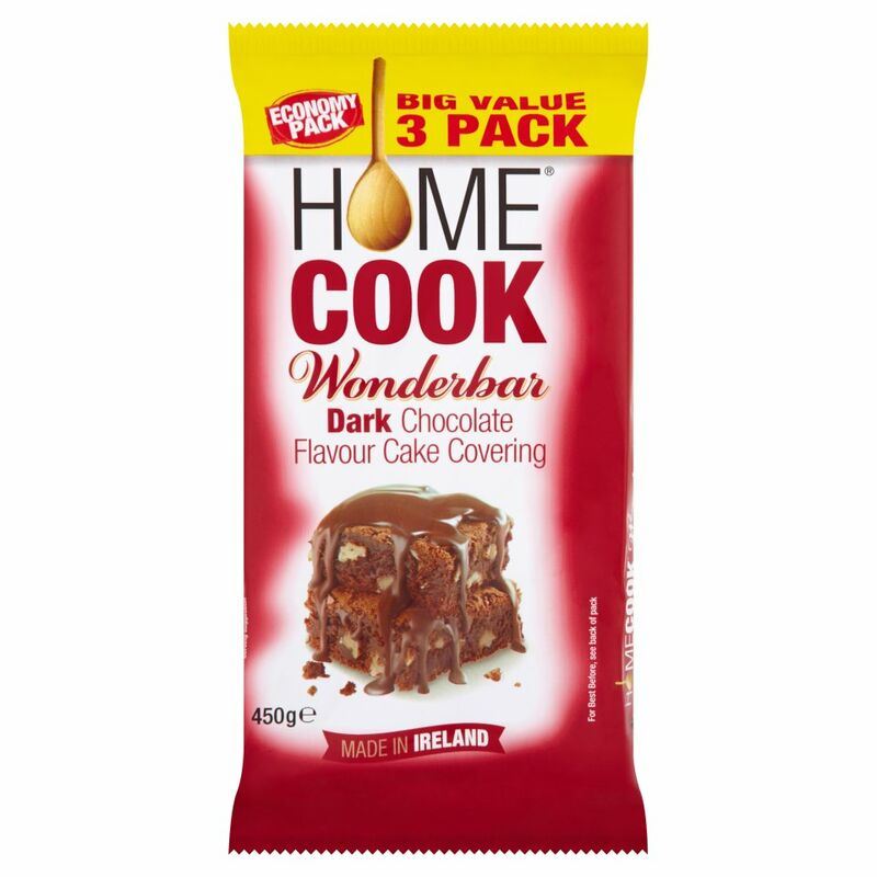 Homecook Wonderbar Dark Chocolate Flavour Cake Covering 450g Big Value 3 Pack
