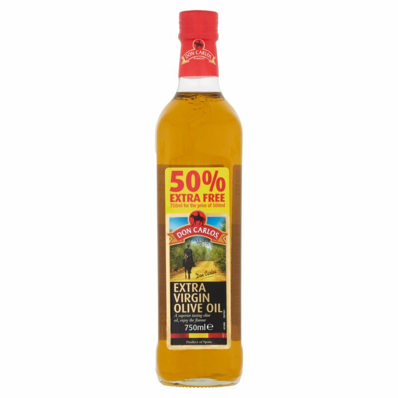 Don Carlos Finest Extra Virgin Olive Oil 750ml + 50% Extra Free