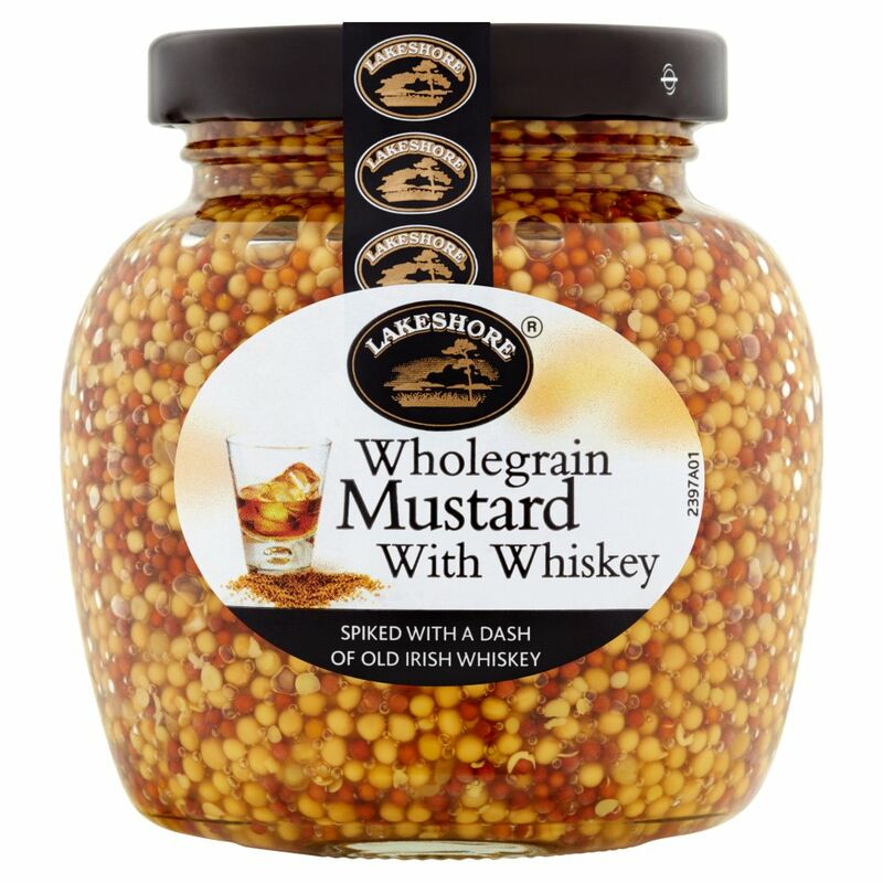Lakeshore Wholegrain Mustard with Whiskey 205g