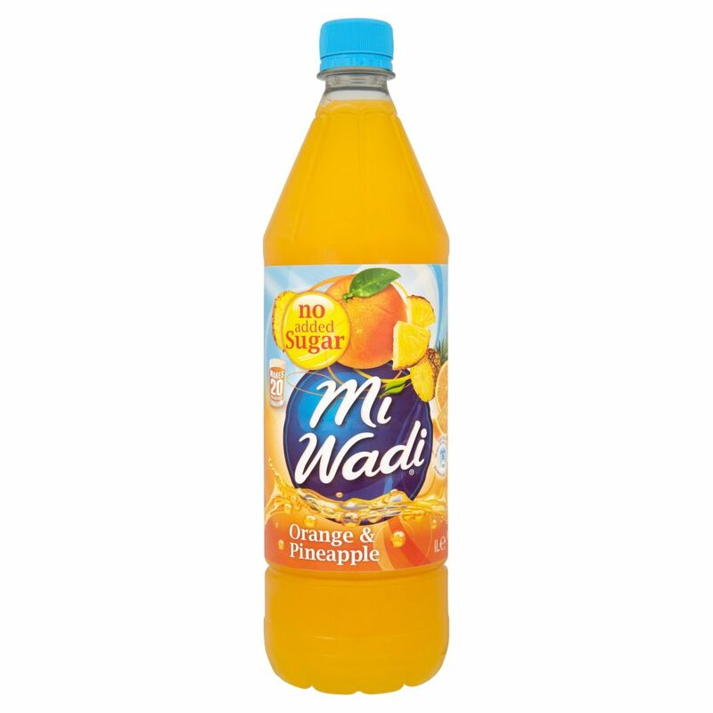 Mi Wadi Orange & Pineapple No Added Sugar 1L