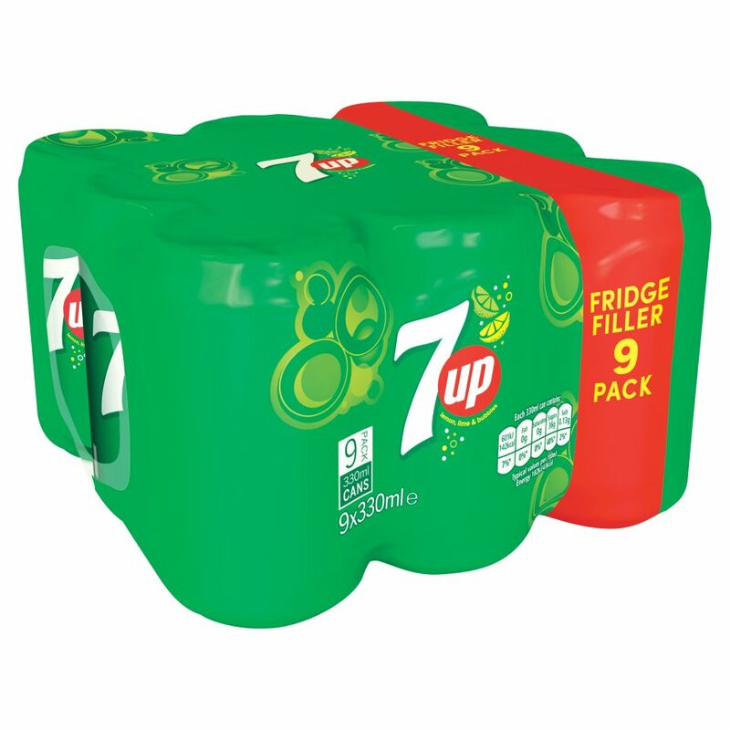 7UP Lemon, Lime & Bubbles 9 x 330ml