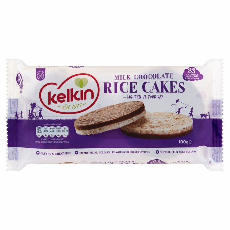 Kelkin Milk Chocolate Rice Cakes 100g
