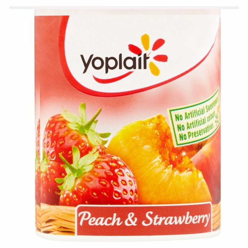 Yoplait Peach & Strawberry Yogurt 125g