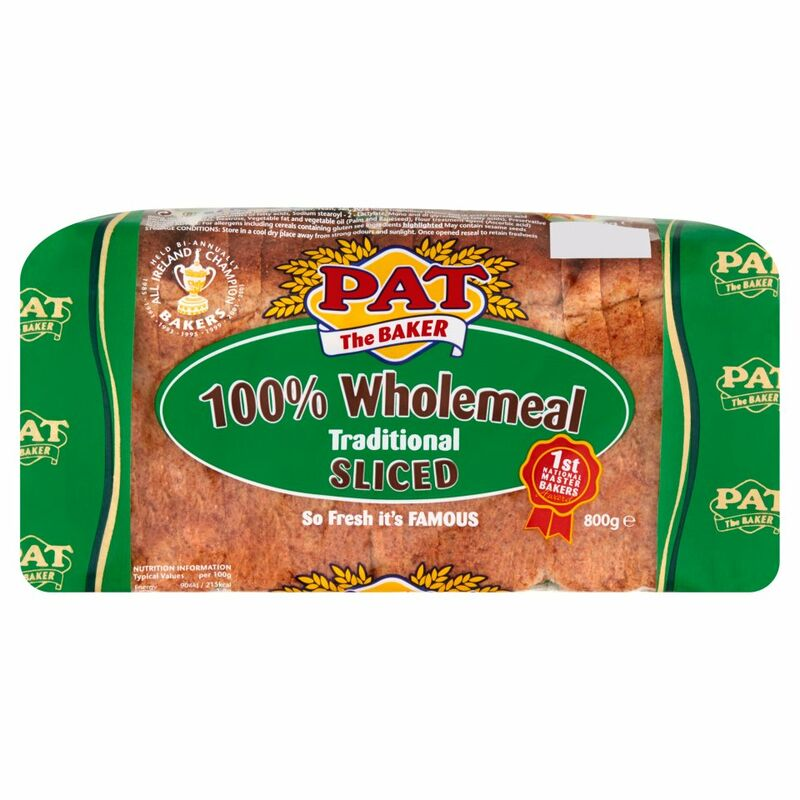 Pat the Baker 100% Wholemeal Traditional Sliced 800g