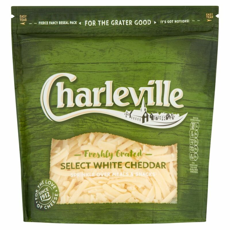 Charleville Freshly Grated Select White Cheddar 200g