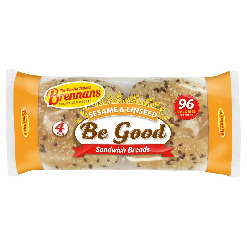 Brennans 4 Be Good Sesame & Linseed Sandwich Breads 160g