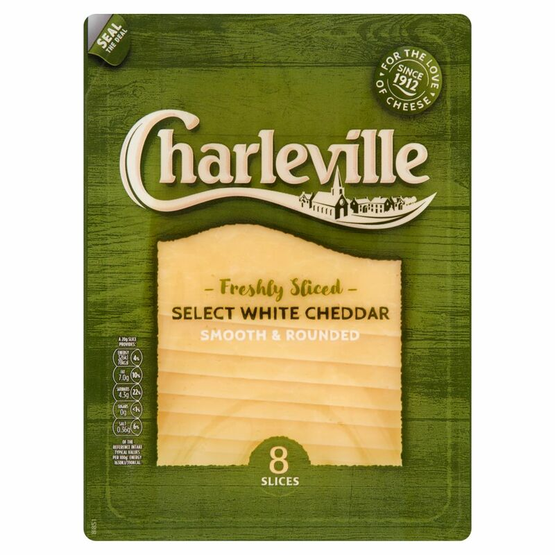 Charleville Freshly Sliced Select White Cheddar 8 Slices 160g