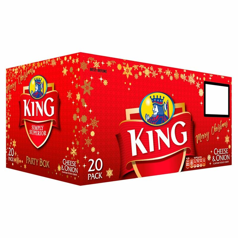 King Cheese & Onion Flavour Potato Crisps Party Box 20 x 25g