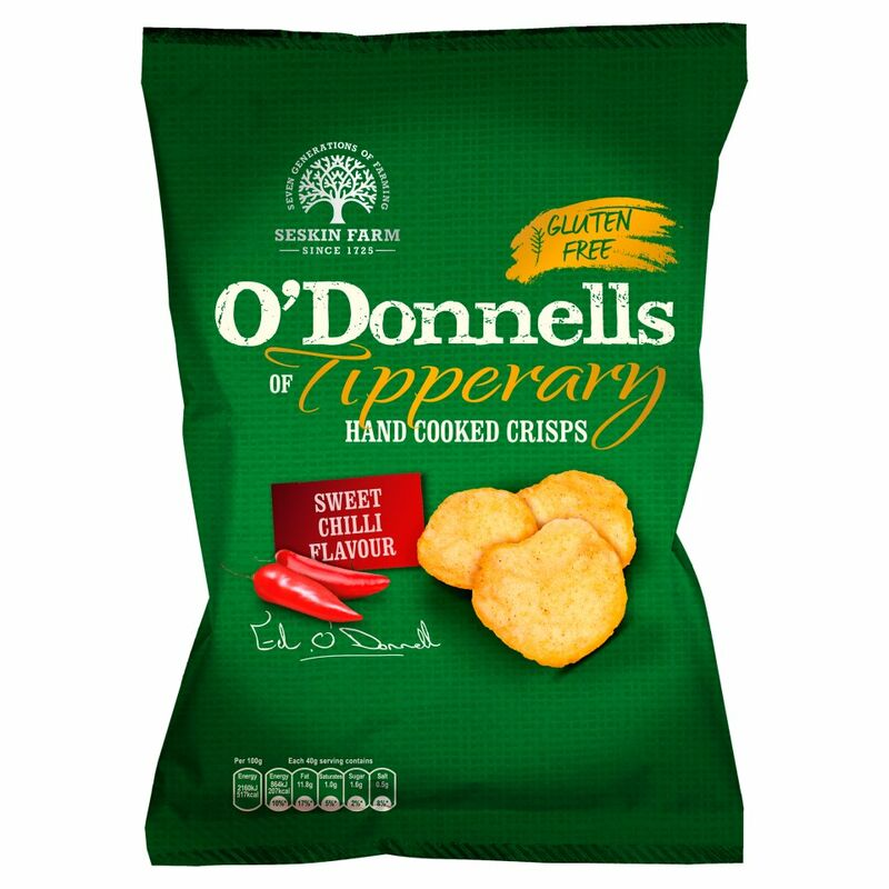 O'Donnells of Tipperary Hand Cooked Crisps Sweet Chilli Flavour 125g