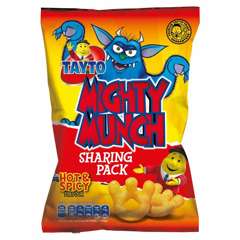 Tayto Mighty Munch Hot & Spicy Flavour 100g