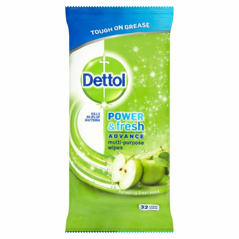 Dettol Cleaning Wipes Power & Fresh Apple 32ea