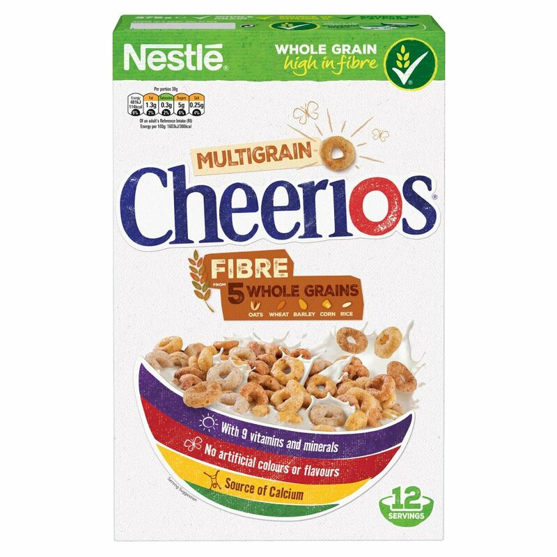 NESTLE CHEERIOS MULTIGRAIN Cereal 375g Box