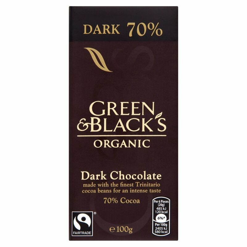Green & Black's Organic 70% Dark Chocolate Bar 100g
